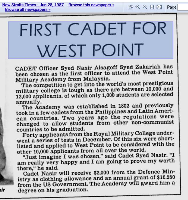 A newspaper clipping from 28 June 1987.
