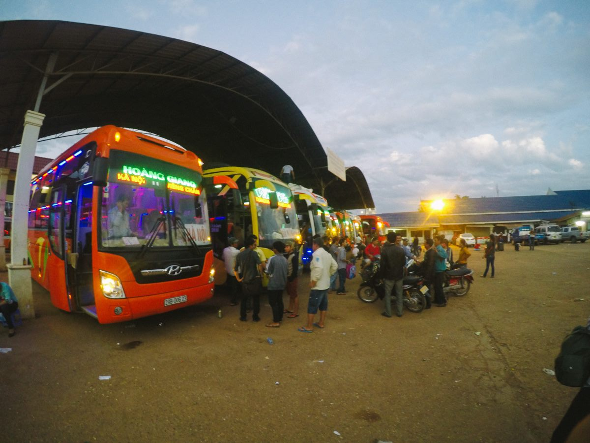 Bus to Hanoi from Vientiane, Laos