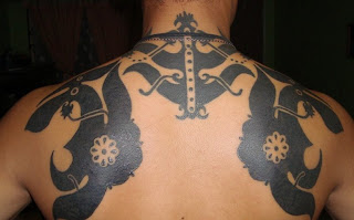 Iban Tattoo backpiece