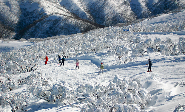 Mt Hotham, Victoria is dubbed the 'powder capital' with potentially some of the best snow activities in Australia.