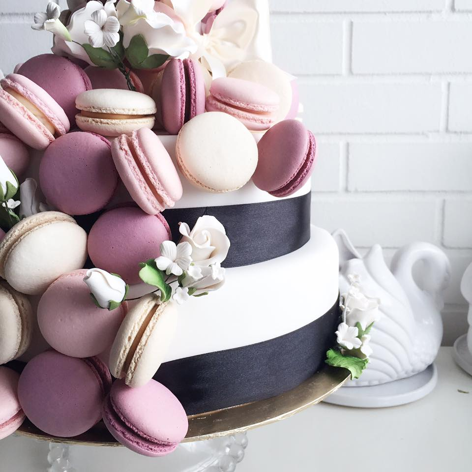Custom-made macaron towers can be ordered too!