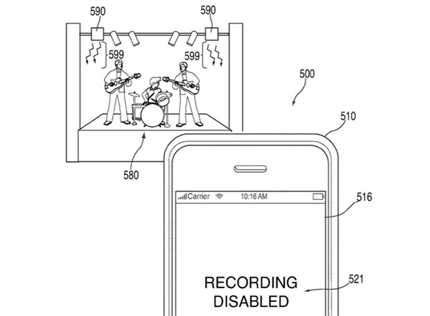 Band blocker … How Apple's new technology would work.