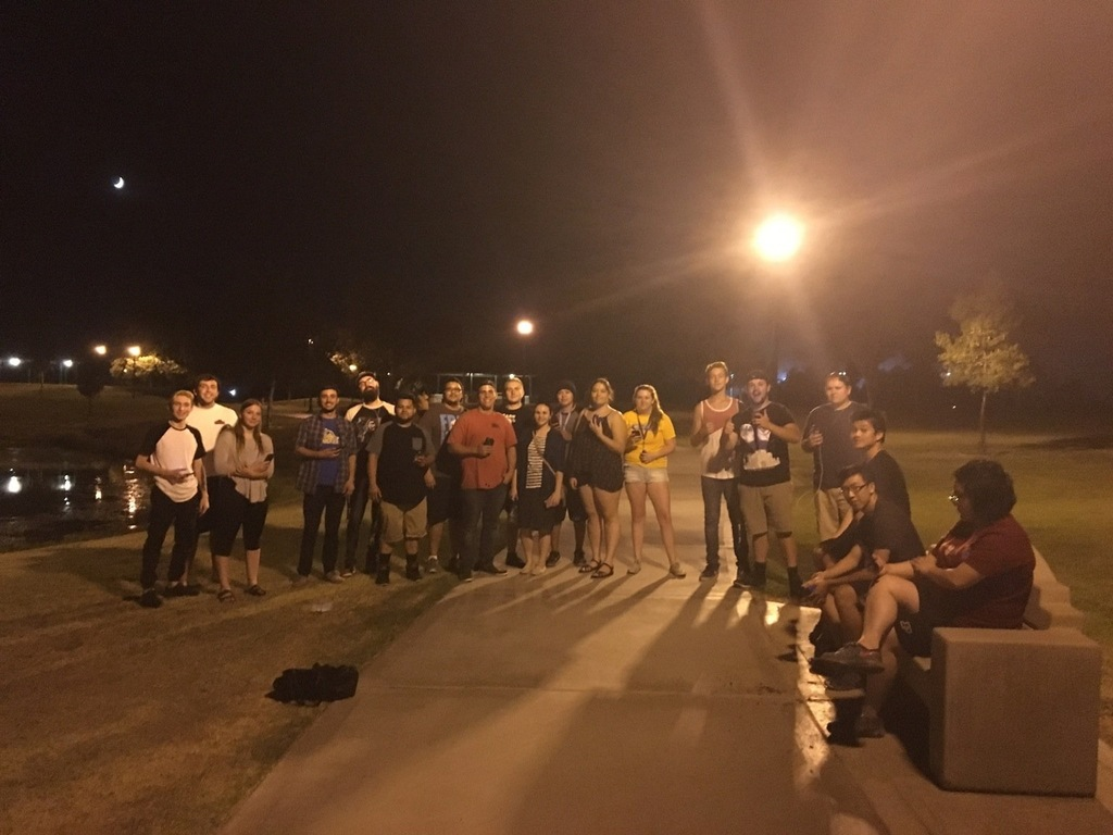 A group of 'Pokémon GO' players
