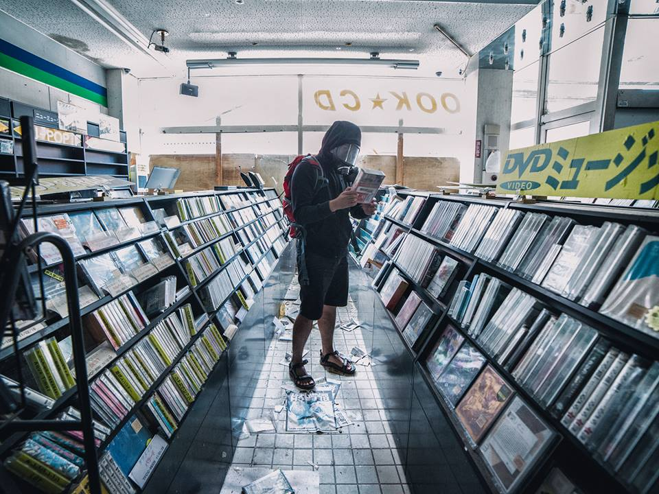 Lots of limited edition CDs were found in this abandoned record store.