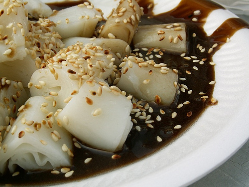 Chee Cheong Fun (rice noodle rolls)