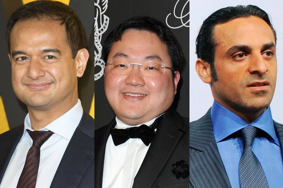From left: Riza Aziz, Jho Low, and Khadem Al Qubaisi.