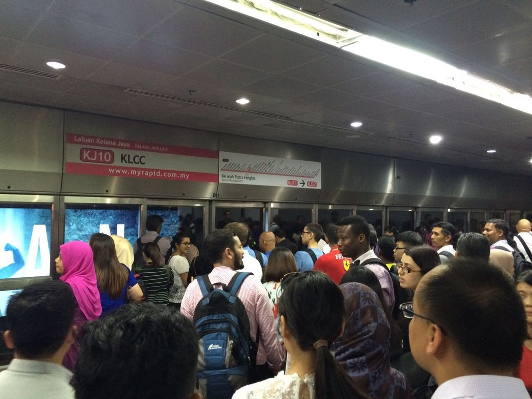KLCC LRT station last Wednesday, 13 July at about 6:30pm