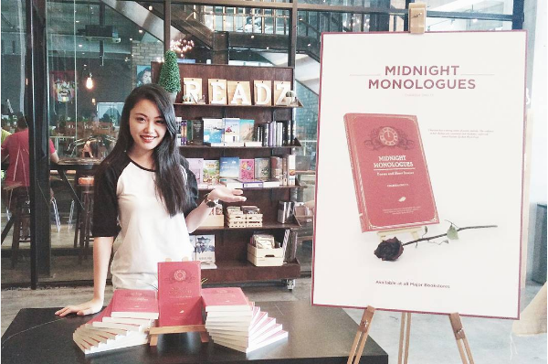 Charissa at her book launch and signing event at Readz Bookstore last month.