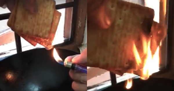 Someone Burned Hup Seng Cream Crackers And Claimed That The Biscuits