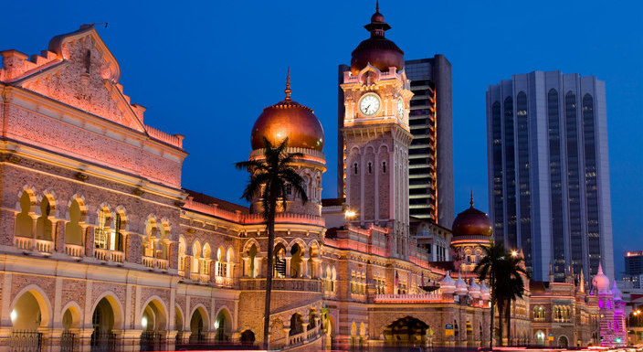 The iconic Sultan Abdul Samad Building in Merdeka Square is just one of the many beautiful buildings in central KL that speaks of the country's rich past.