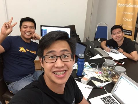 Co-founders of GrabGas, from left: Gabriel Lim, Jeson Lee, and Sean Hoo.