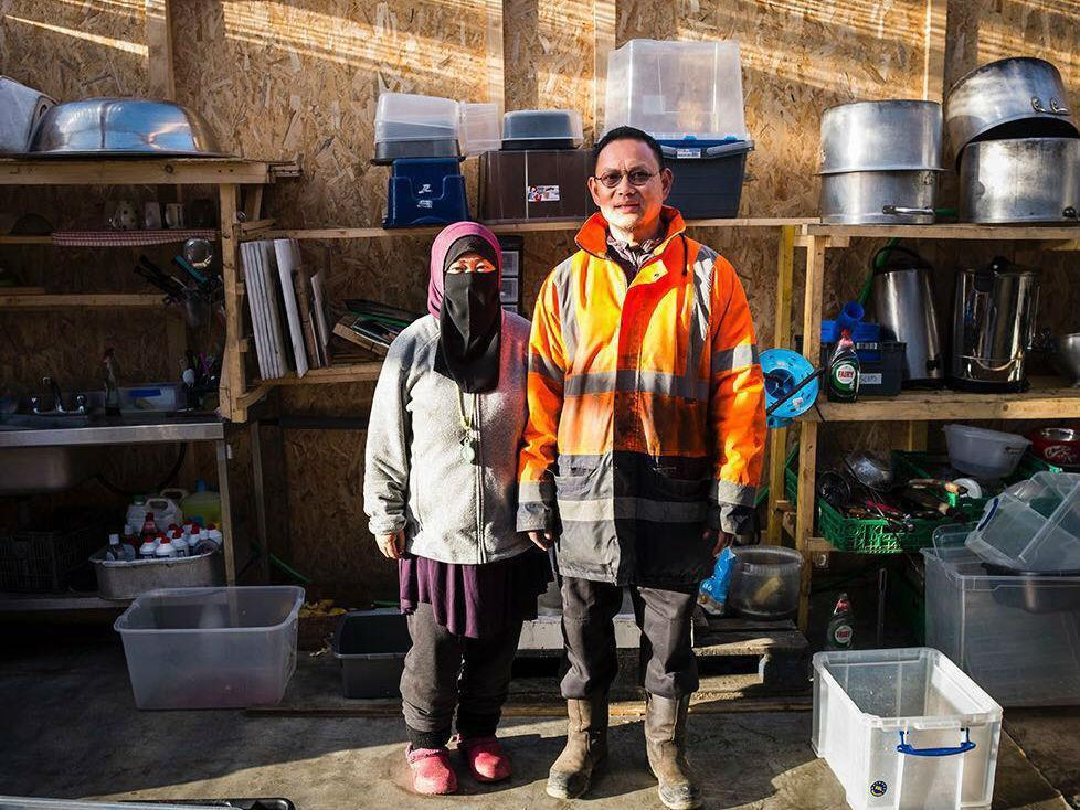 Image from Kitchen in Calais via The Independent