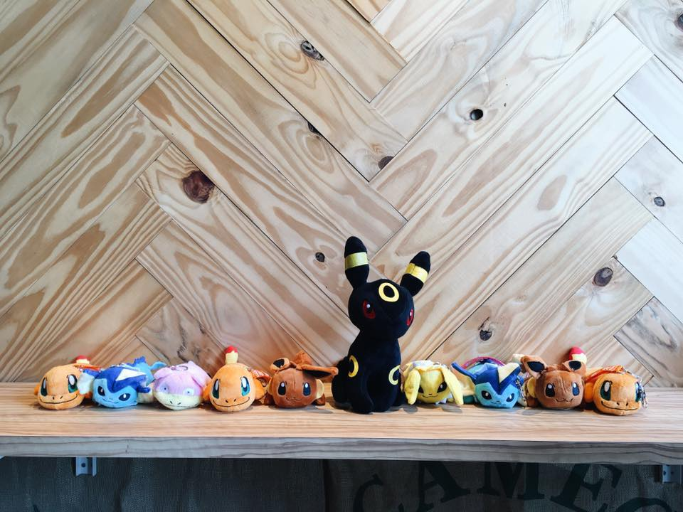 Some of the plushies that our colleagues bought from Uncle David.