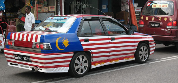 Image result for car with malaysia flag