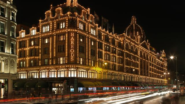 Harrods department store in  Knightsbridge, London.