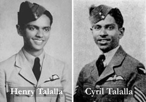 Henry Talalla (left) and Cyril Talalla (right).