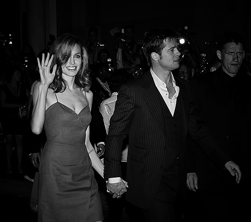 Brangelina during the premiere screening of Mr. and Mrs. Smith in 2005.