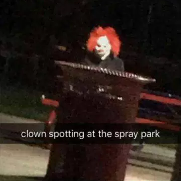 Clown spotted at Fort Saskatchewan, Canada on 6 October.