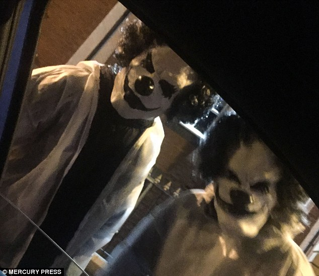 Spotted in Manchester - two people dressed as clowns allegedly jumped on a woman's car bonnet on 9 October.