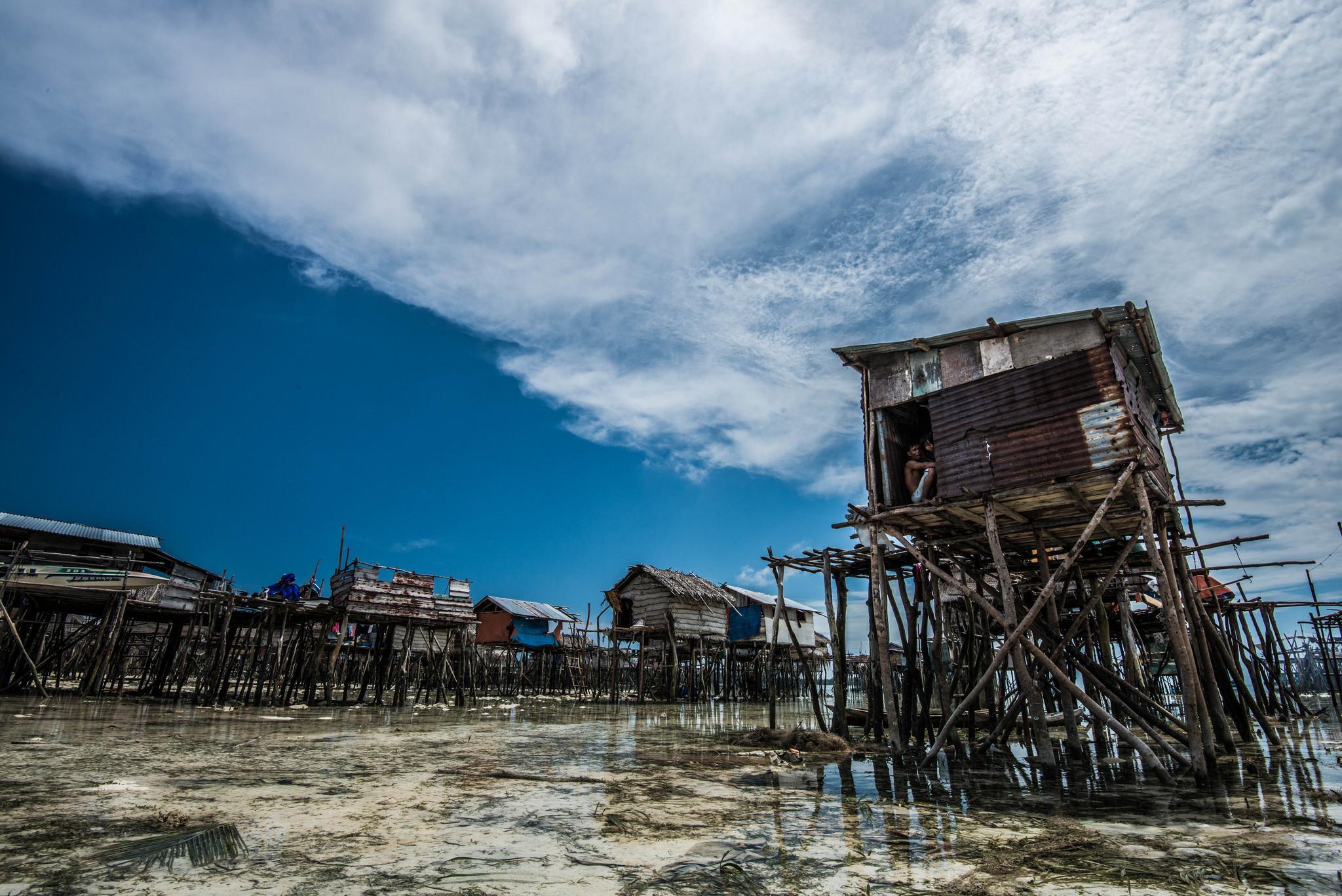 Stilt houses in Selakan Island.
