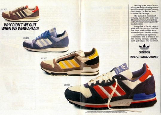 brand new b51d5 50888 Throwback Thursday  One of Adidas big hits was the launch of the ZX series,  which kicked off in 1984. The new line won over a lot of running adepts  back ...