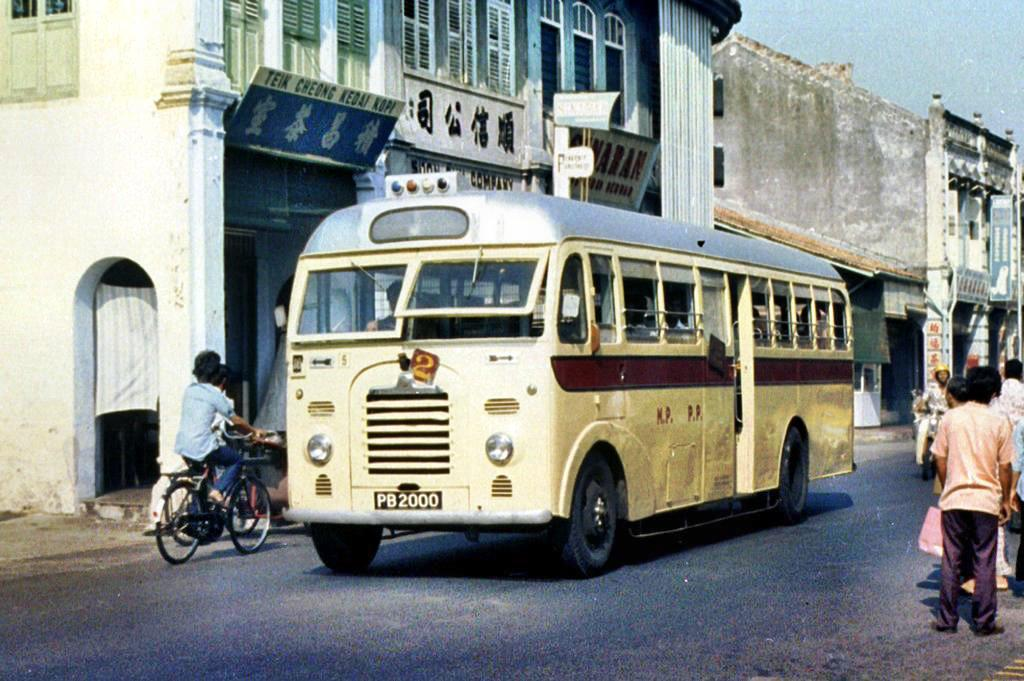 The bus was photographed on Chulia Street in 1975 at Chulia Street by Peter Vasey.