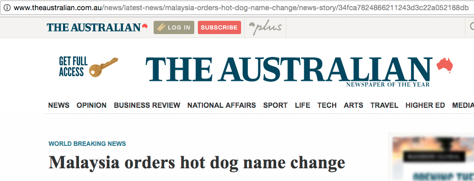 Image from The Australian