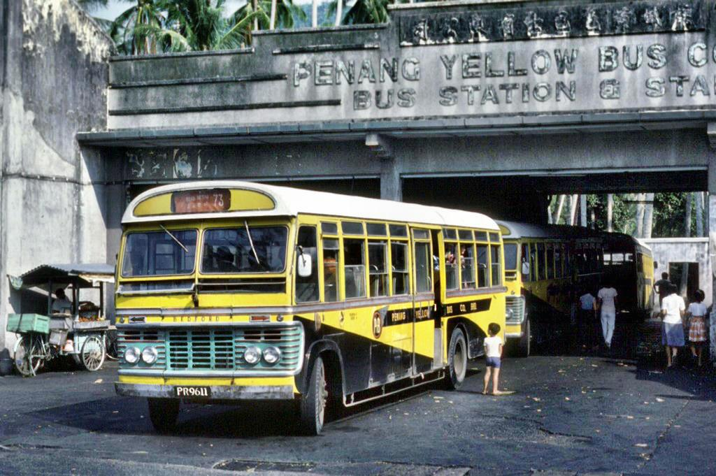 A SB5 bus photographed at a bus station in Penang back in 1979.