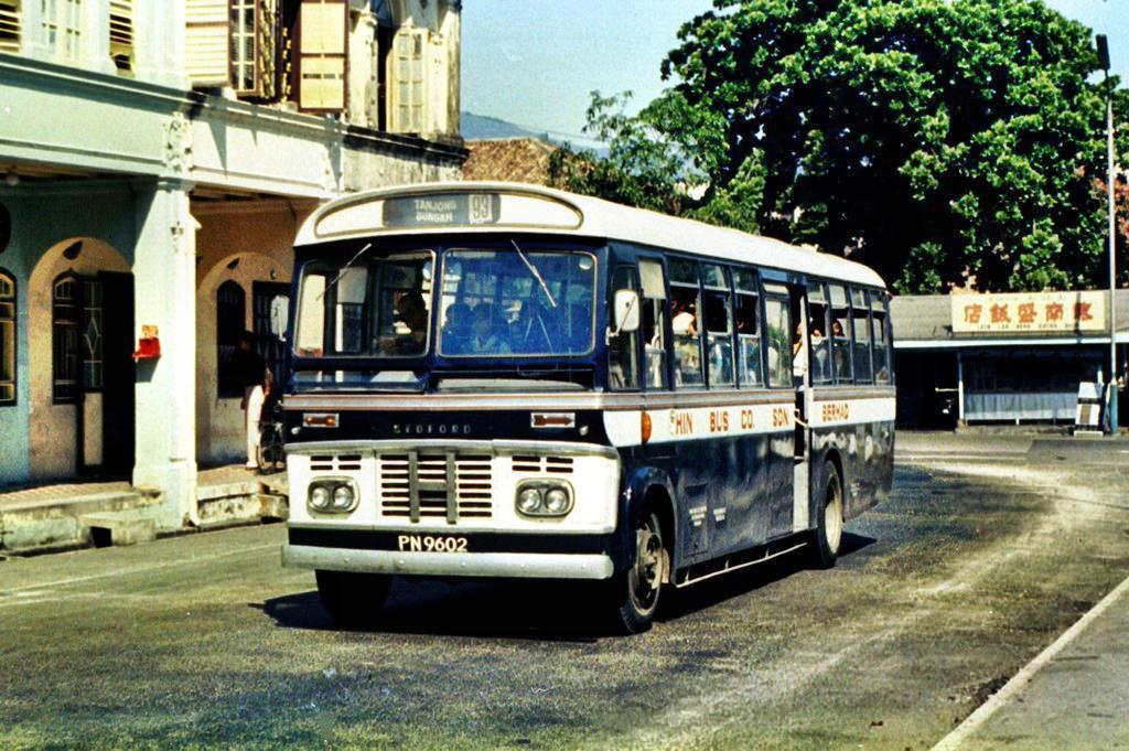 A Bedford SB by the Hin Bus Company photographed in 1976 by Peter Vasey.