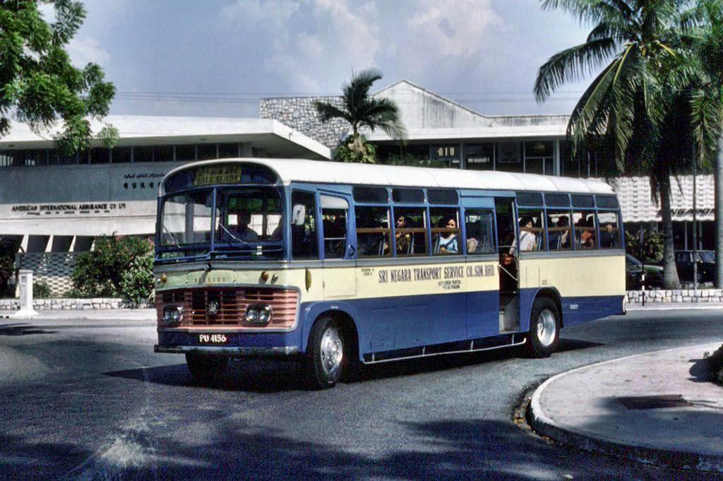 A Bedford SB run by the Sri Negara Bus Company which is also the smallest bus operator in Penang back in 1979 by Ian Lynas.