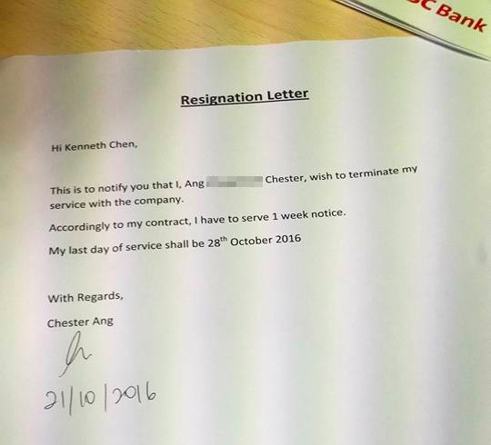 bank manager rewrites an employee s resignation letter so he could