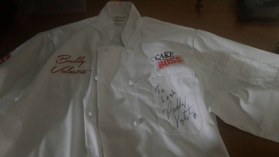 Valastro gifted Leah a special Chef Coat with his name and signature on it.