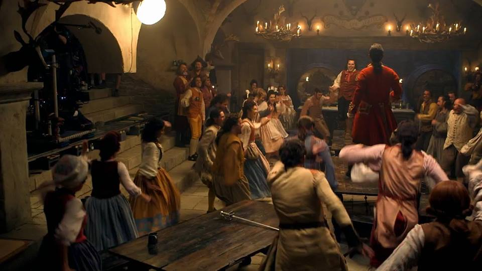 The actual filming of the 'Gaston' number.