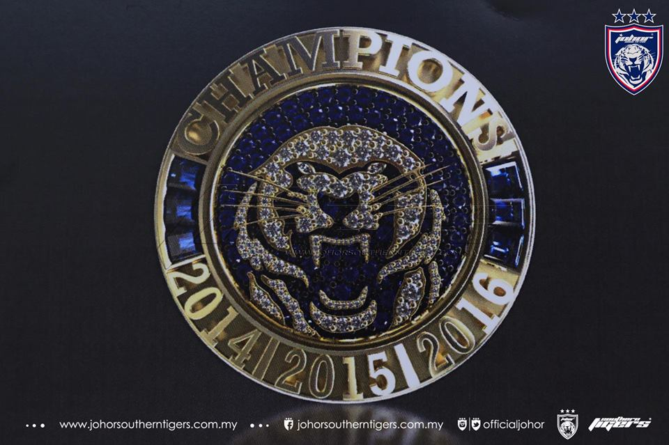 The design of the luxurious ring that all JDT players and staff will be receiving.