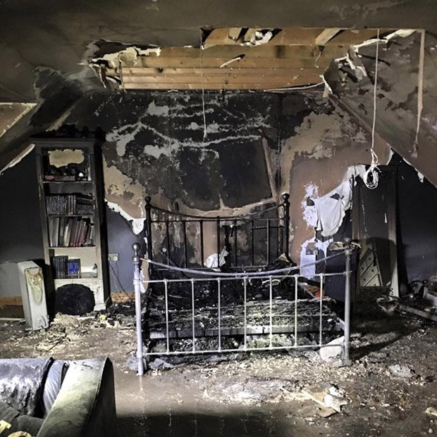 The iPhone burnt down the teenager's bedroom.