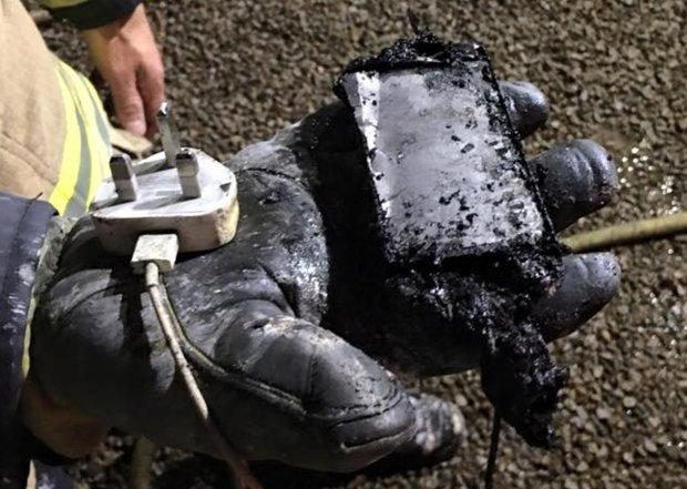 The charred iPhone.