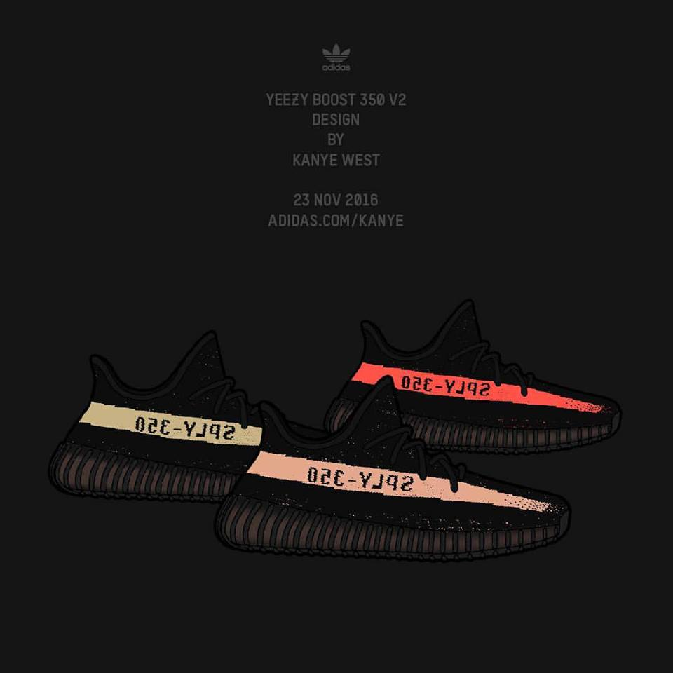 f5773005d12f8 The latest Yeezy Boost 350 V2 will be releasing in three colours. Image via  adidas