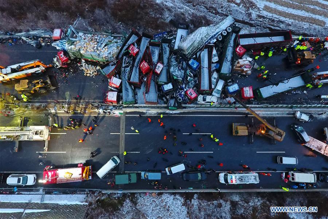 Rescuers tend to the aftermath