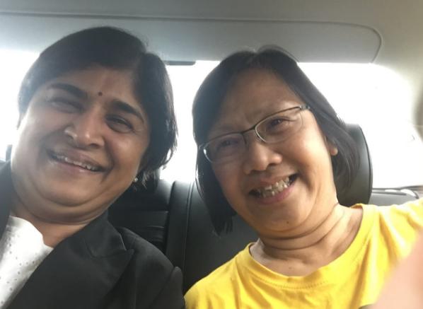 Maria Chin and lawyer Ambiga Sreenivasan