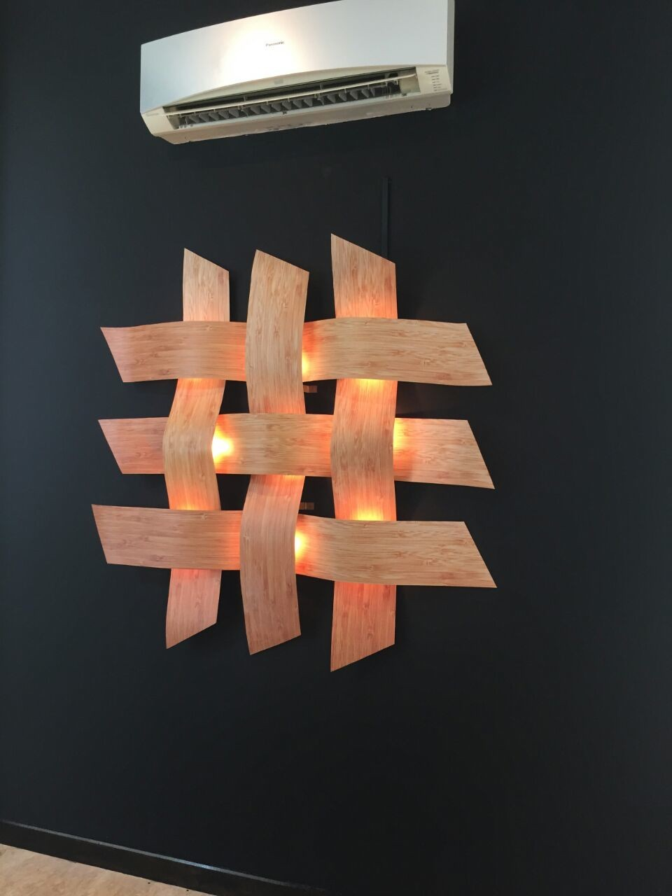 One of the wall lamps designed by Alatas.
