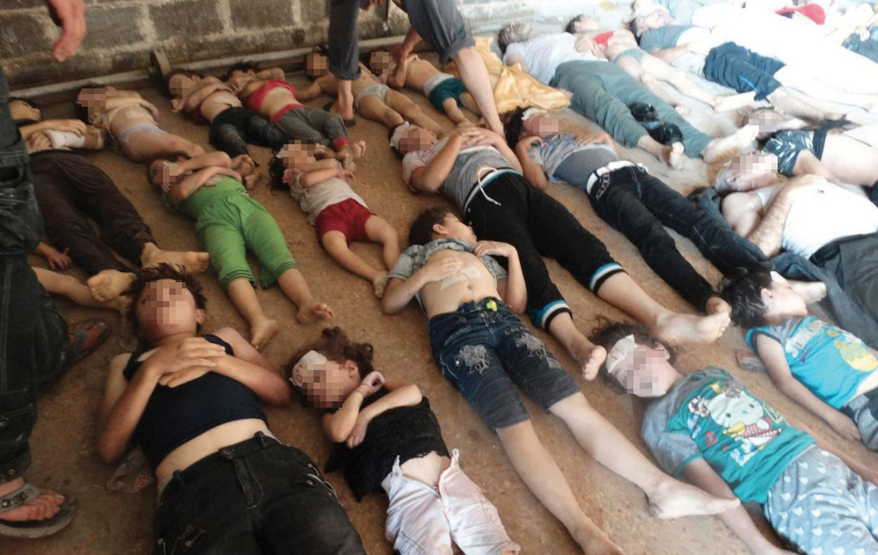 The Ghouta chemical attack in August 2013 killed dozens of children.