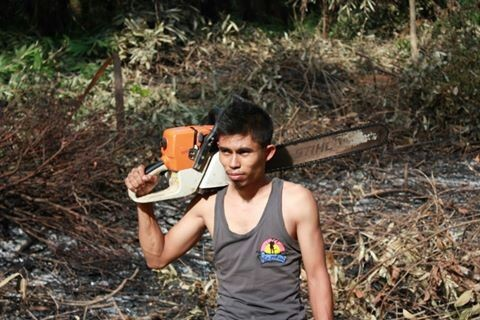 Muhd Alatas, when he was still in Sabah and working at a wood factory.
