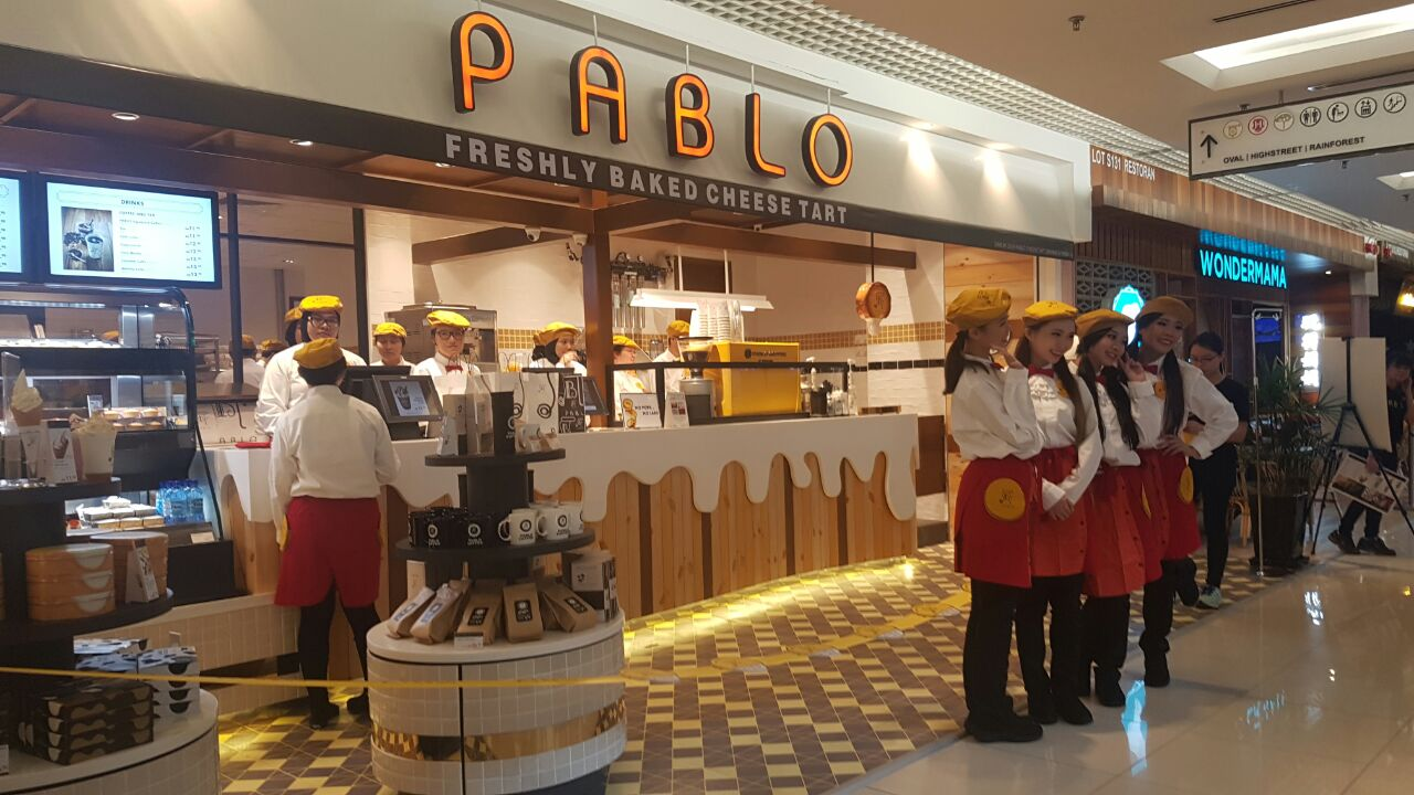 Pablo's first Malaysian outpost opened in 1 Utama Shopping Centre today, 6 December.
