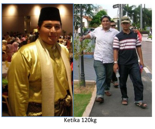 Ridwan, before he embarked on his weight loss journey.