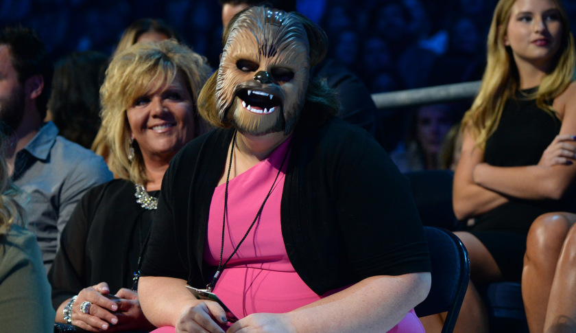 Candace Payne, a.k.a. 'the Chewbacca mom' whose Life video was the most viral Facebook Live content this year.