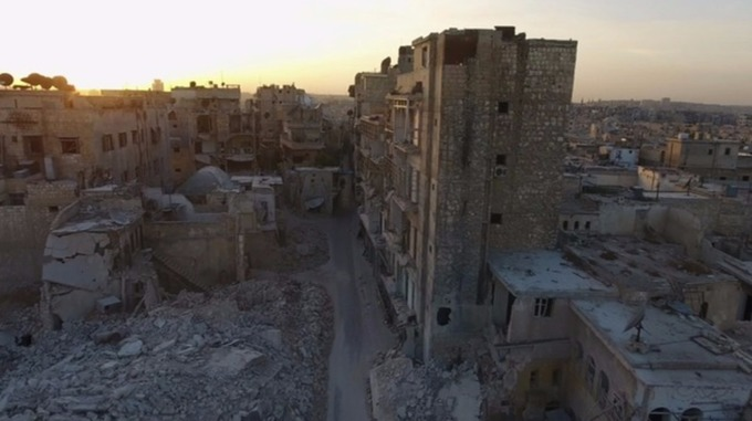 The ancient city of Aleppo has been reduced to rubbles in just four years.