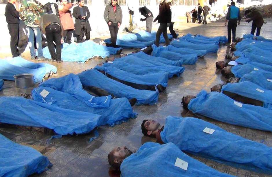 Bodies found in Aleppo.