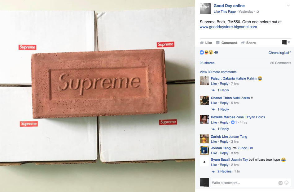 Yup, RM550 for a brick, ladies and gentlemen