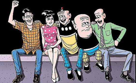 The main characters, from left: Mr. Chin, Ms. Chan, Old Master Q, Big Potato, and Mr. Chiu.