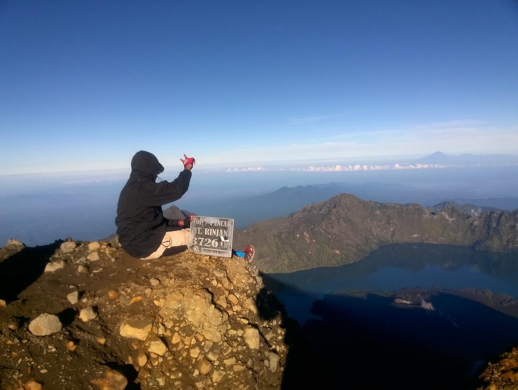 Gunung Rinjani di Lombok, Indonesia.